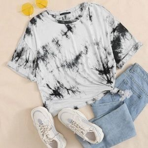 Black and White Tie Dye T-Shirt, NWT